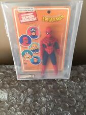 Mego 1979 Spiderman Pin Pin Toys Marvel comics Stunning AFA 85 Spider-man