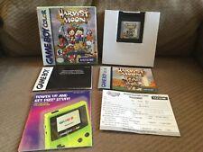 HARVEST MOON Gameboy Color COMPLETE! (Nintendo Game Boy Color, 1999) New Battery