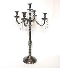 Kerzenständer Schwarz 79cm groß 5-armig Kerzen-Leuchter Kerzenhalter Hochzeit