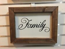 Farmhouse Country Wedding Decor FAMILY Rustic Wood Inspirational Wall Art Sign