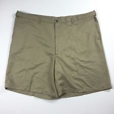 Haggar Mens Shorts Flat Front Size 52 Tan Cool 18 Big & Tall NWOT