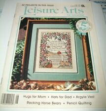 LEISURE ARTS THE MAGAZINE COUNTED CROSS STITCH PATTERN BOOK JUNE 1991 ISSUE