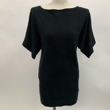 Tory Burch Womens Long Sweater X-Small Black 100% Cashmere