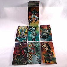 WILD C.A.T.S. '94 (Wildstorm/1994) COMPLETE OVERSIZED CHROMIUM Card Set WILDCATS