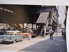 1956 30 Av Astoria Queens Subway Taxi Cab New York City NYC Cab Color Photo