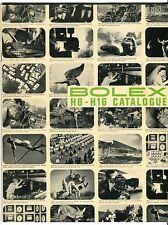 """1964 Vintage """"BOLEX H8 - H16"""" Sales Catalog: Cameras, Lenses, Projectors +"""