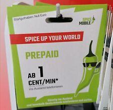 Spice Mobile 0 Euro Starterpaket SIM Karte im O2 Netz NEU OVP