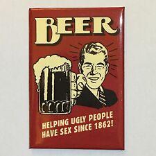 Fridge / Tool Box Retro Humour Beer funny