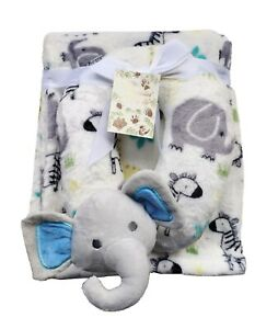 Puppy Blanket With U Pillow - Elephant Design