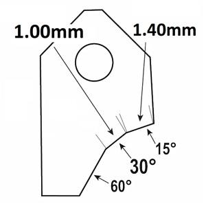30°-1.00mm.Valve seat cutting carbide tip bit,SERDI NEWEN ROTTLER SUNNEN GOODSON