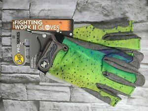 Buff Pro Series fighting Work Gloves 2 Gloves 15287 S/M 8/9 Dorado New Free Ship