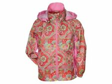 Agu Oilily Kids Girls Waterproof Rain Coat Jacket Hooded Shower Lightweight Pink
