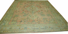 An Antique Green Ground European Oushak/Ushal Style Area Rug