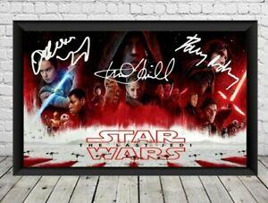 Star Wars The Last Jedi Signed Photo Print Poster Memorabilia