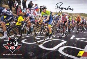 2020 CARTE OFFICIELLE CYCLISME POGACAR TADEJ CARTE SIGNEE