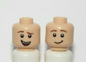Lego 1 Flesh Minifigure Figure Reversible Head Boy Man Lopsided Smile Grin Woody