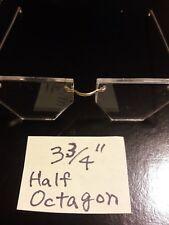 "Modern 3 4/4"" Half Octagon Doll Glasses"