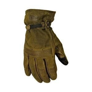 Roland Sands RSD Truman Wax Cotton Motorbike Motorcycle Gloves - Ranger