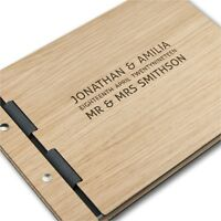 Personalised Wedding Guest Book Alternative Wood Design Custom Wooden Guestbook