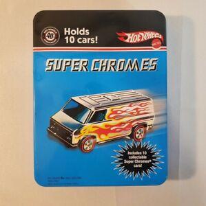Mattel Hot Wheels 40th Anniversary Super Chromes Collectible Tin Case - RARE