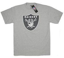 Raiders Medium T-Shirt Oakland NFL Football American Big Emblem Heather Gray