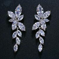 Vintage Iconic Retro Drop Dangle Expensive Earrings 14k White Gold 6.6Ct Diamond