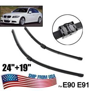 XUKEY Windshield Wiper Blades Set For BMW E90 E91 325i 328i 330i 2006 2007-2009