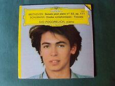 IVO POGORELICH : BEETHOVEN sonate 32 & SCHUMANN - LP 1982 GATEFOLD DG 2532 036