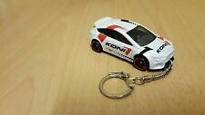 Diecast Ford Focus RS White Toy Car Keyring / Keychain NEW