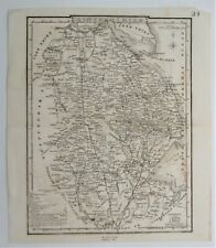 County Map of Lincolnshire Genuine 1838 Antique England. Cole and Roper