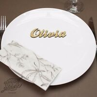 Wooden Wedding Place Name, Place Setting, Table names, laser cut names