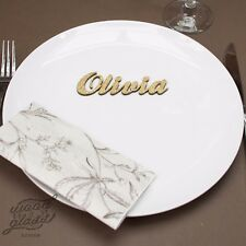 Wooden Wedding Place Name, Place Setting, Table names, laser cut names, MDF