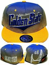 Golden State New Top Pro Skyline Bridge Warriors Gold Blue Era Snapback Hat Cap