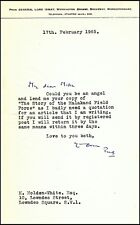 """1965 typed letter signed from """"Pug"""" Ismay seeking a copy of Churchill's Malakand"""
