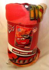 Cars Lightning McQueen Racing Sports Network Blanket Fleece Throw 110cm x 150cm