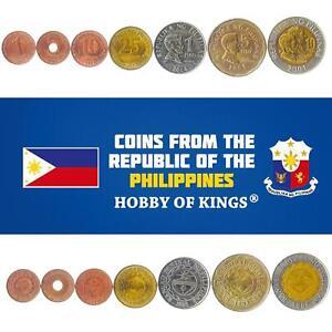 Set 7 Coins Philippines 1 5 10 25 Sentimos 1 5 10 Peso 1995 - 2017