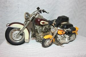 LOT OF Two (2) Harley Davidson Toy Display Model Replicas Motorcycles