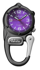 New Dakota Watch Mini Clip Water Resistant to 100 Feet with Led in Purple Dial