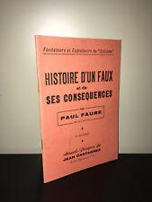 Paul Faure & Jean Castagnez HISTOIRE D'UN FAUX ET DE SES CONSEQUENCES BC16B (1)