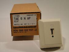 TAE 1x6 N AP Wanddose von Kräcker, Aufputz, cremeweiß, Anschlussdose