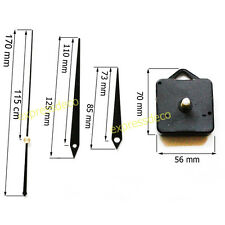 Aiguilles 19 cm Noir filetage 6mm Mécanisme Horloge Mouvement Pendule