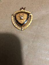 Western Electric Company 10k Gold Filled Diamond Service Award Pendant Charm Vtg