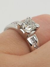 *Pre-loved Jewellery SALE* 18CT WHITE GOLD PRINCESS CUT DIAMOND RING RRP $7400