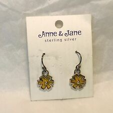 Anne & Jane Harvey Yellow Flower wire earrings