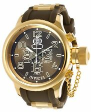 New Mens Invicta 11879 Russian Diver Chronograph Olive Green Rubber Strap Watch