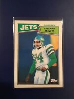 1987 Topps #129 FREEMAN MCNEIL New York JETS SET BREAK NM-MINT