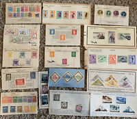 MINT STAMP LOT ON APPROVAL SHEETS FROM 15 COUNTRIES (NO U.S.), FATHER'S DAY GIFT