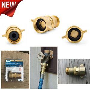 """Camper Water Pressure Regulator Reducer Gauge Lead Free RV Plumbing 3/4"""" Brass"""