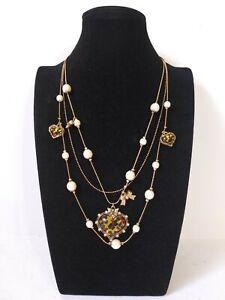 Betsey Johnson Gold Tone Necklace