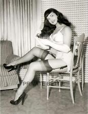 Bettie Page 4x5 B&W Photo Chair80 Betty